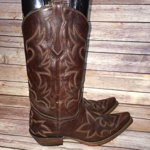 CORRAL Embroidered Cowboy Boots, Size 8.5 D